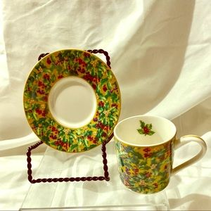 CUP AND SAUCER FOR DEPARTMENT 56 HEIRLOOM.